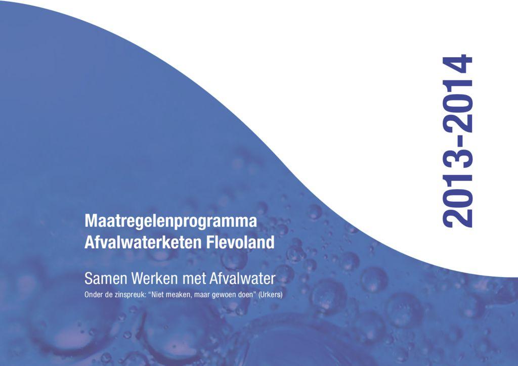 thumbnail of Maatregelenprogramma 2013-2014 SAF
