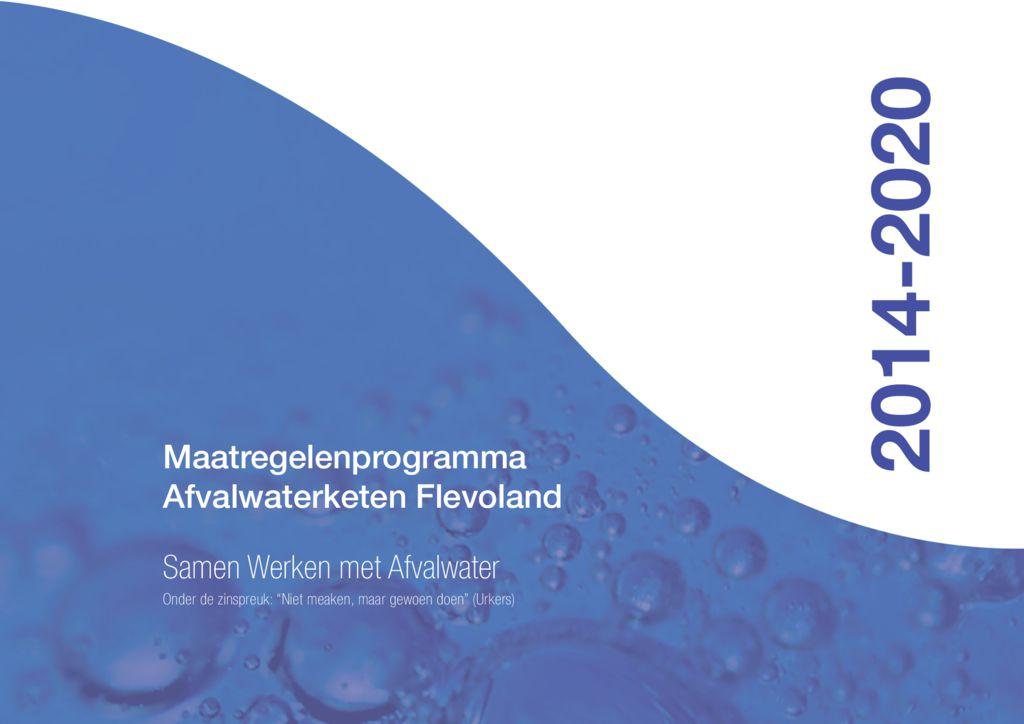 thumbnail of Maatregelenprogramma 2014-2020 SAF