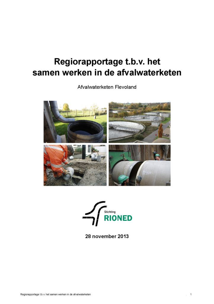 thumbnail of 2013-11-28 Regiorapport Afvalwaterketen Flevoland